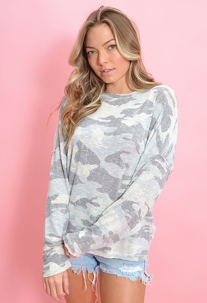 KK Bloom Camo Print Melissa Sweater