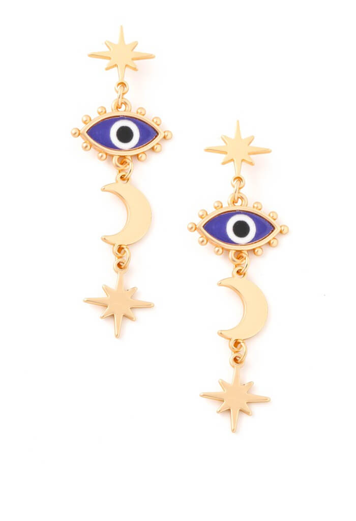 KK Bloom Mykonos Island Earrings-Cobalt
