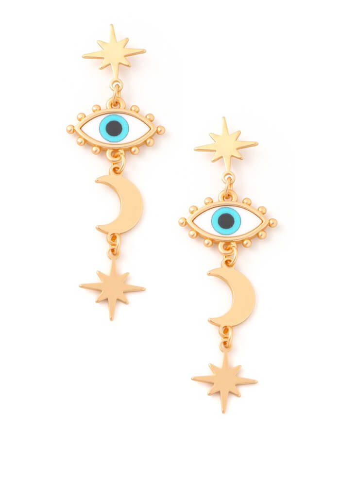 KK Bloom Mykonos Island Earrings-Aqua