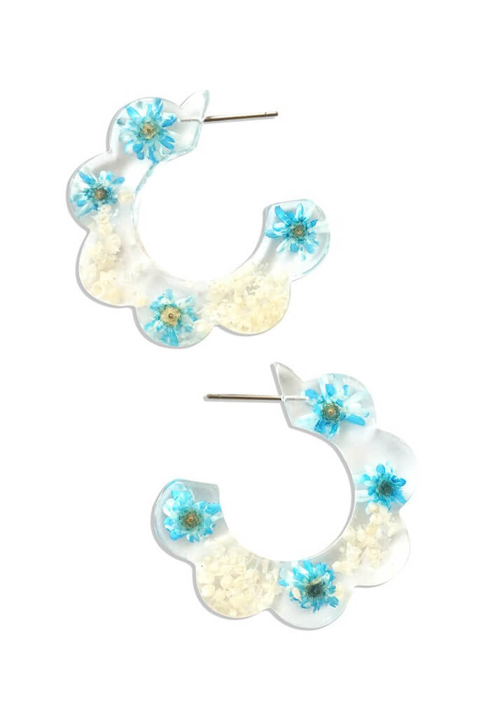 KK Bloom Jessica Hoops-Blue