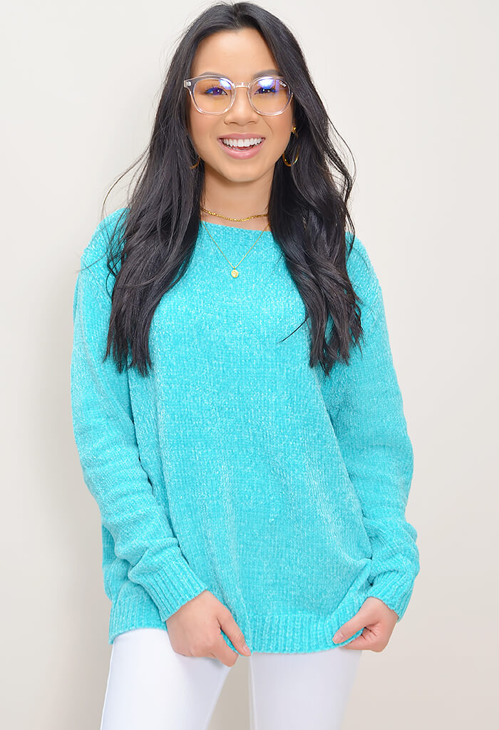 Chenille Sweater - Mint