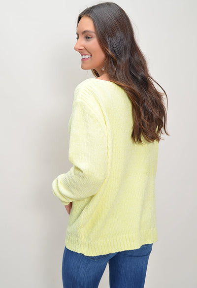 Chenille Sweater - Yellow