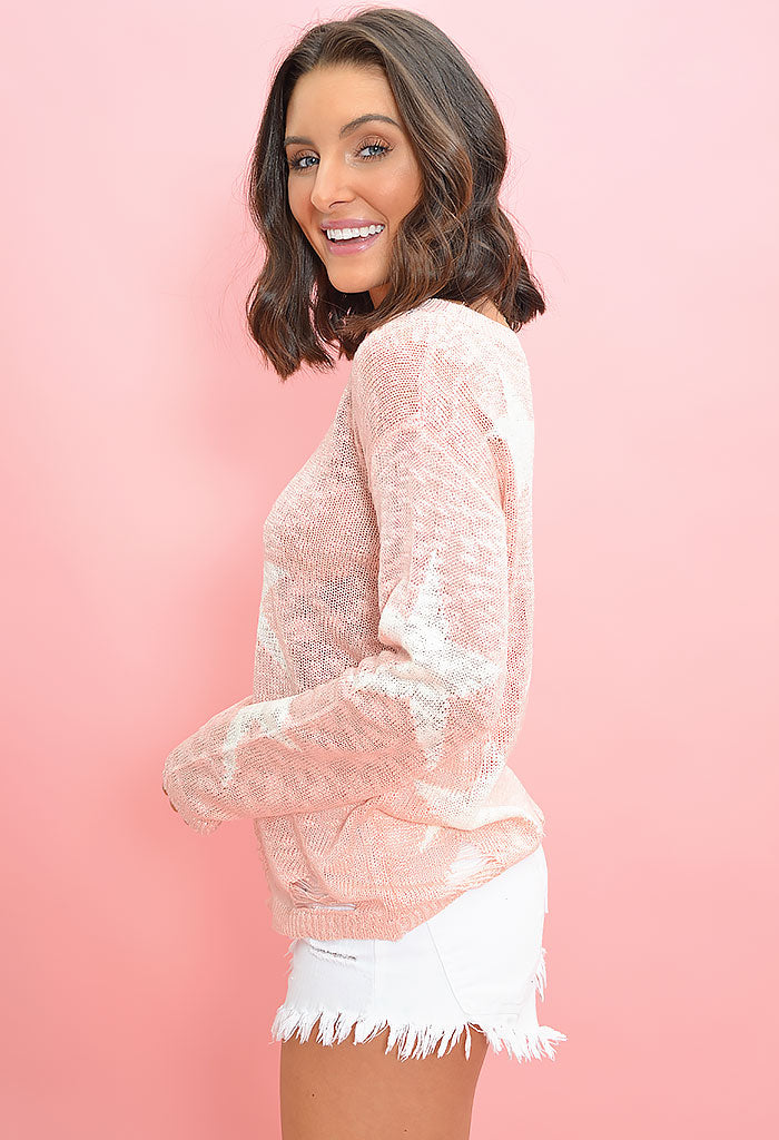 Twinkle Knit Sweater - Pink