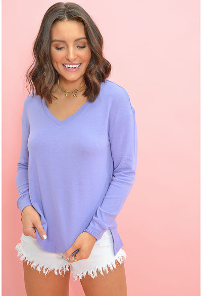 Gazella Sweater Aster-Purple