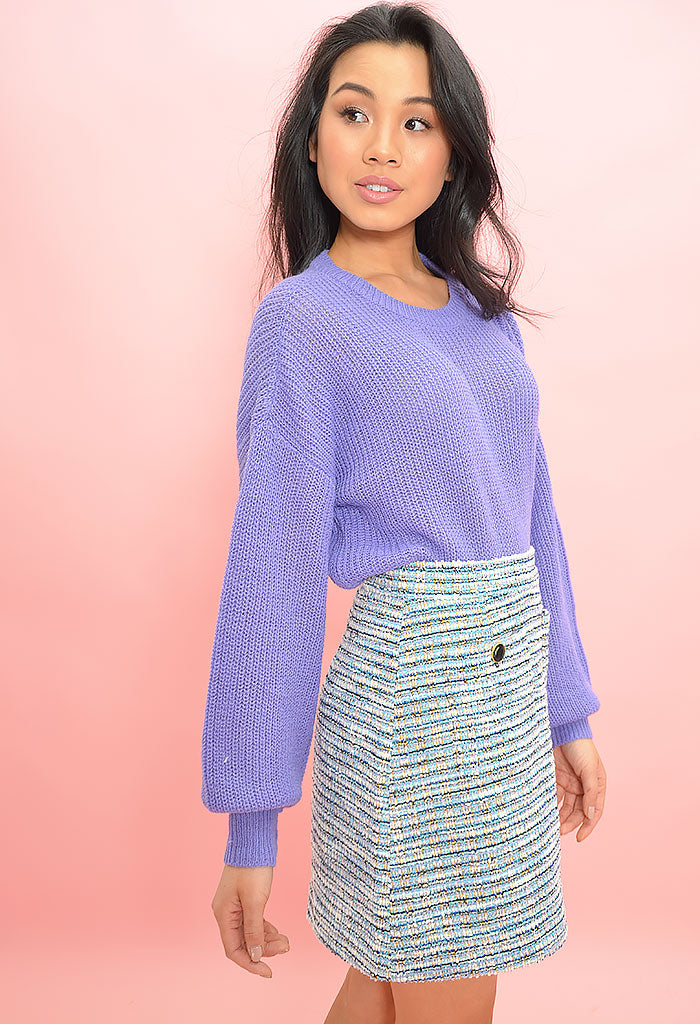 Perseus Skirt-Blue Fog