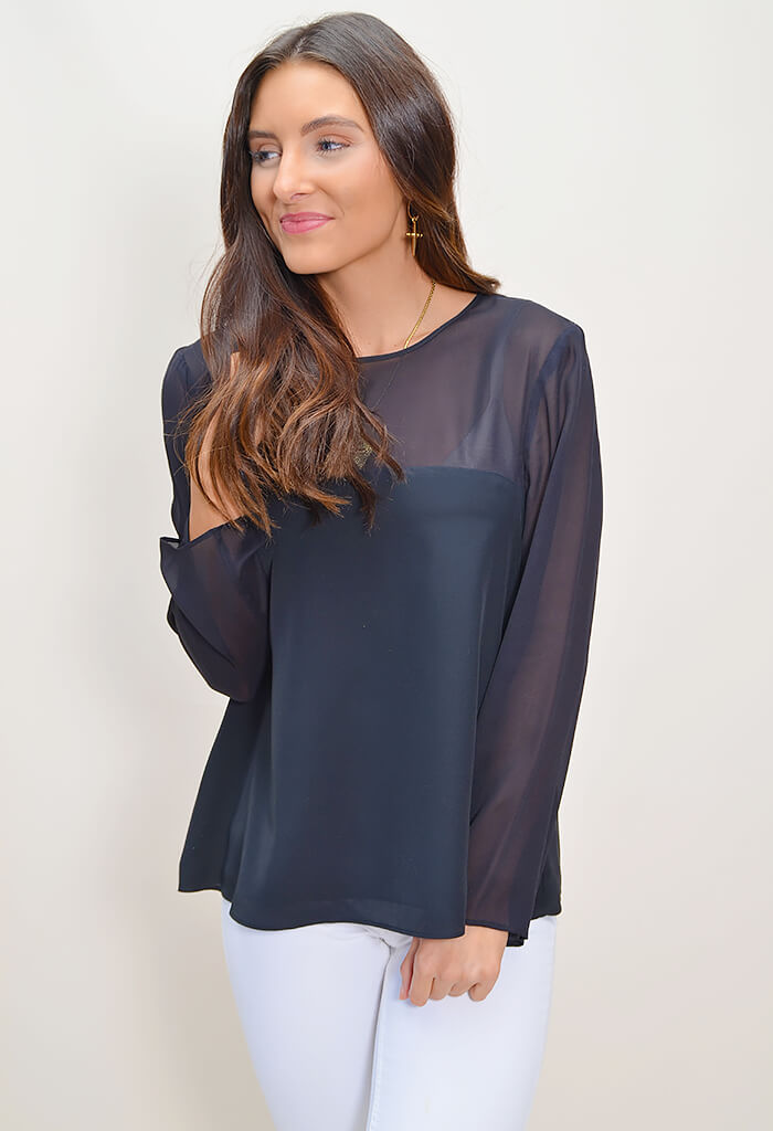 Black LS Top