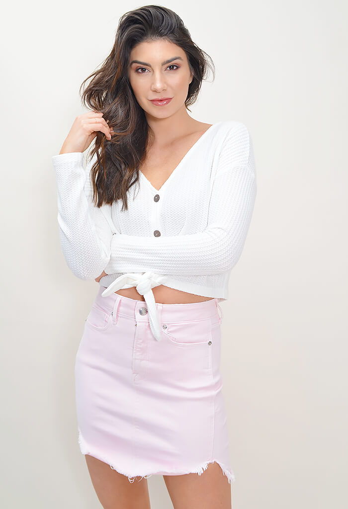 The Bombshell Skirt - Baby Pink