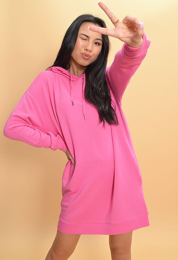 Leave Room Pullover Dress-Pop Pink