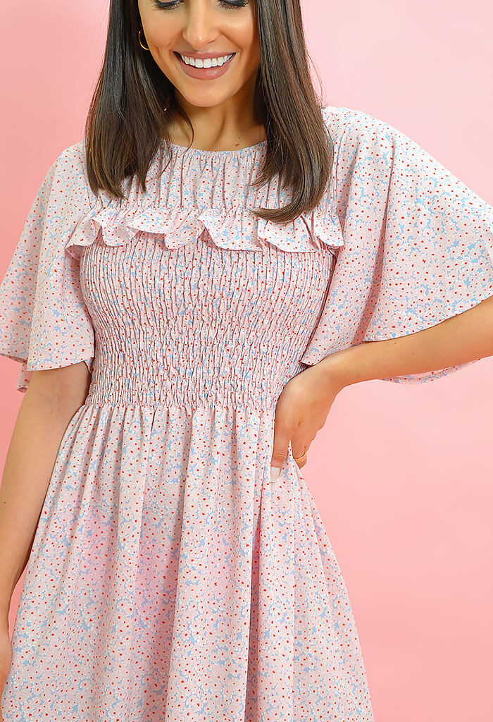 KK Bloom Cece Midi Dress-Pink