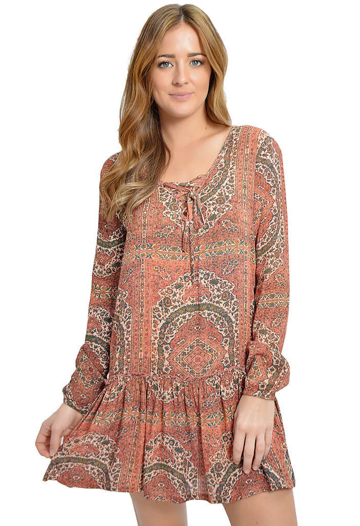 Knot Sisters Height Street Dress-front