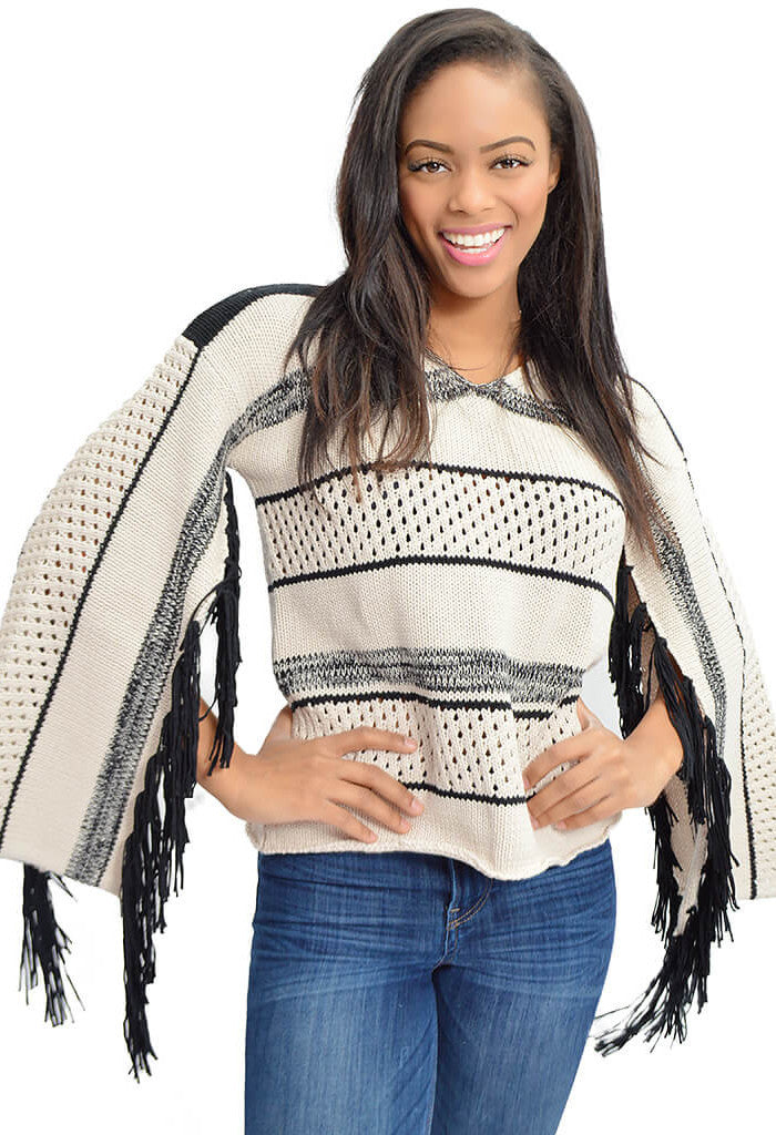 Kingdom Fringed Jumper-front