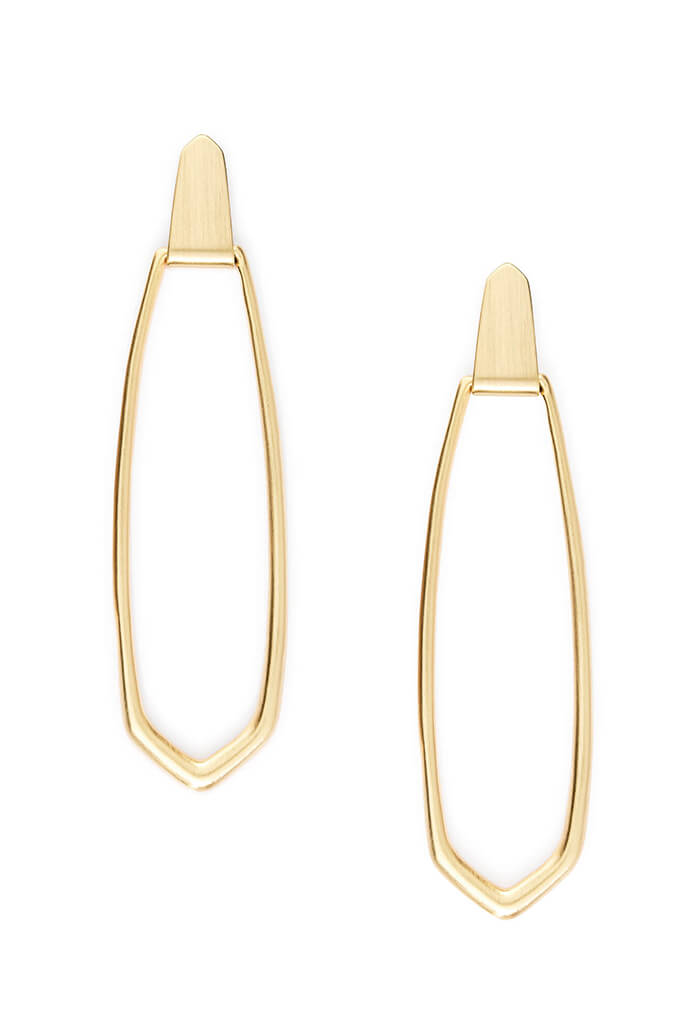 Patterson Hoop Earrings in Gold