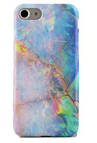 Blue Opal Marble iPhone Case