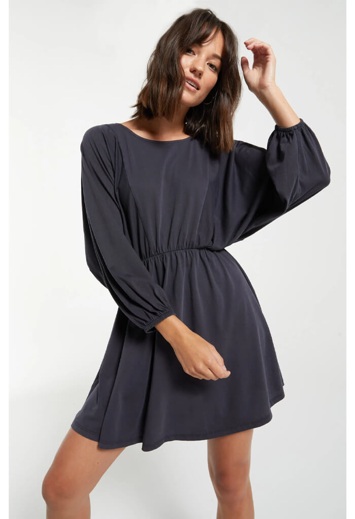 Z Supply Karla Organic Dress in Washed Black