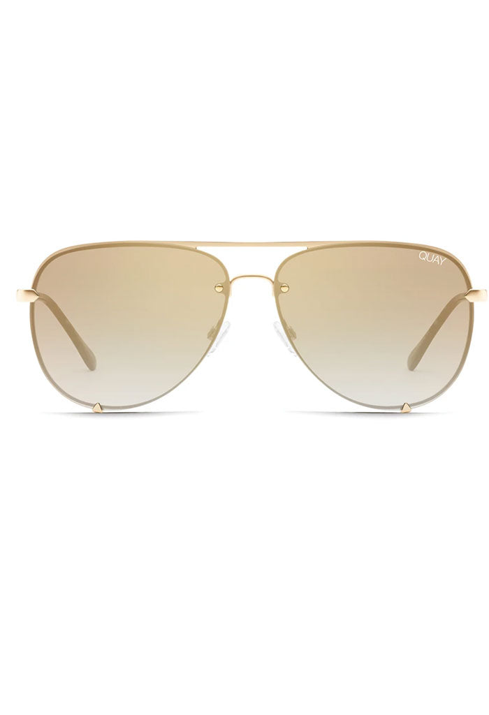High Key Rimless Sunglasses in Gold