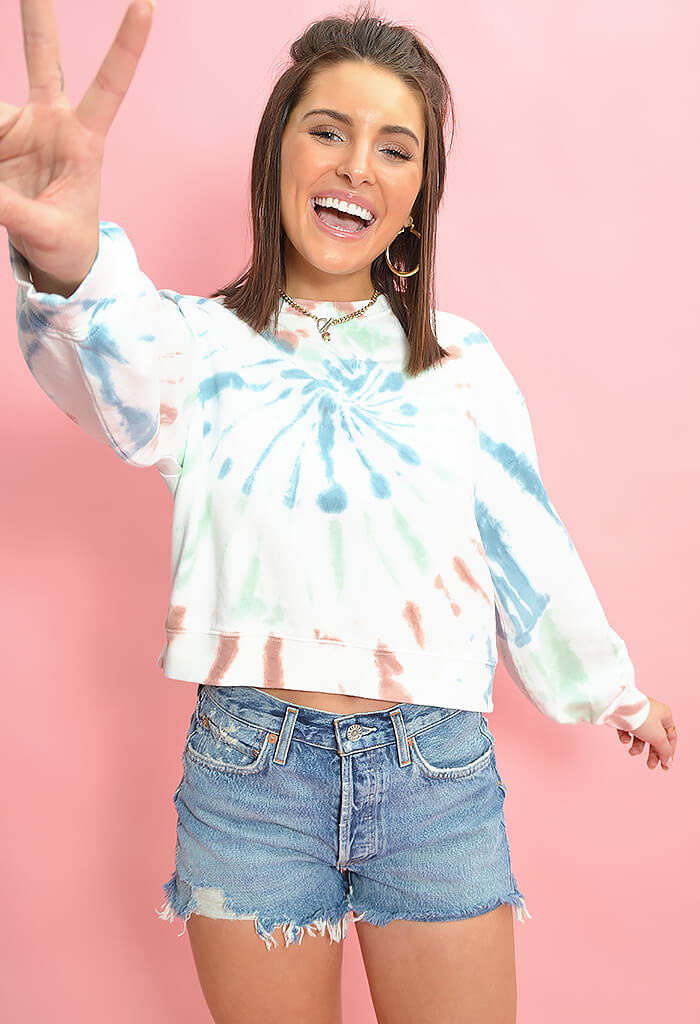 Multi Colored Tie Dye Pullover