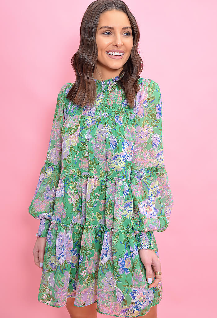 THML Eloise Dress-Kelly Green