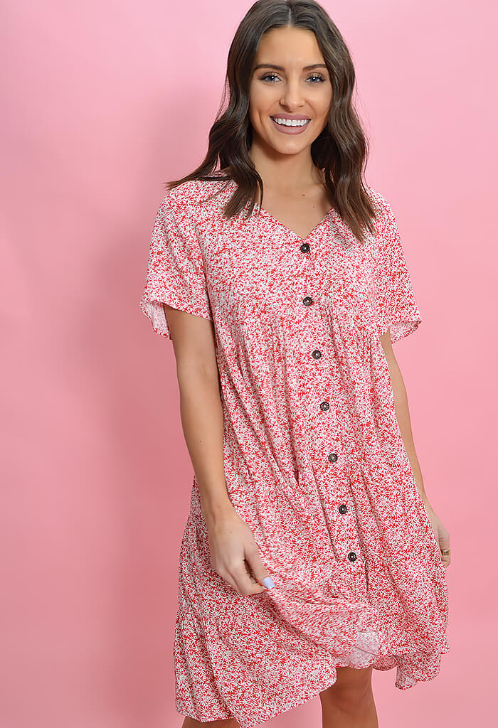 Sunday Blush Red Fern Dress