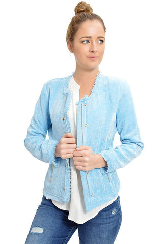 Fray Baby Blue Jacket