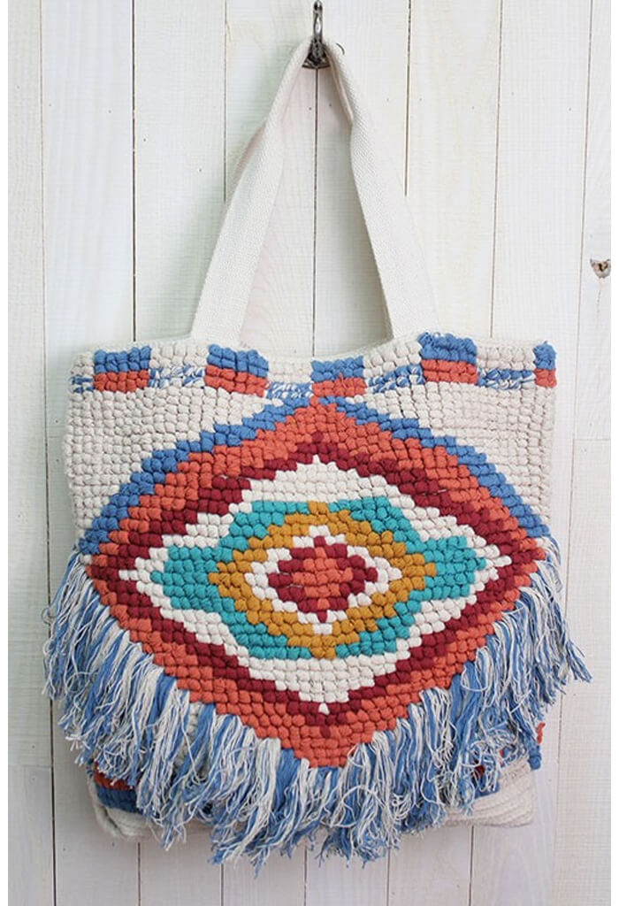 Tribal Fringe Tote Bag