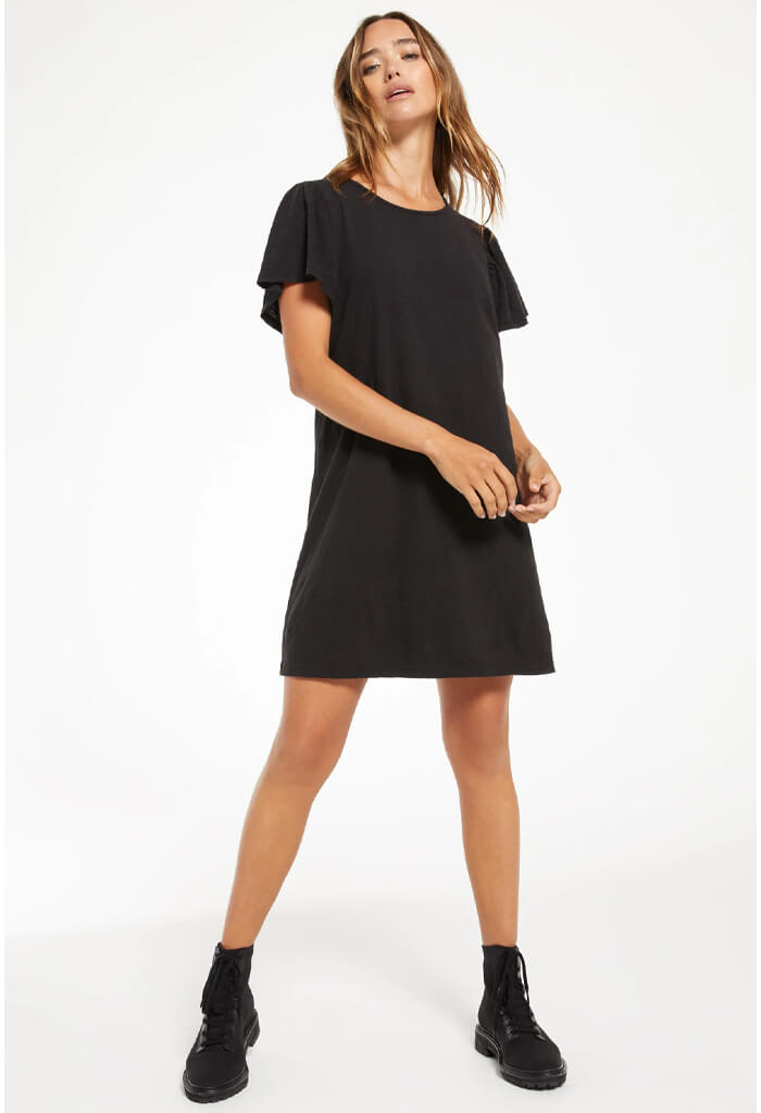 Z Supply Sofia Cotton Slub Dress-Black