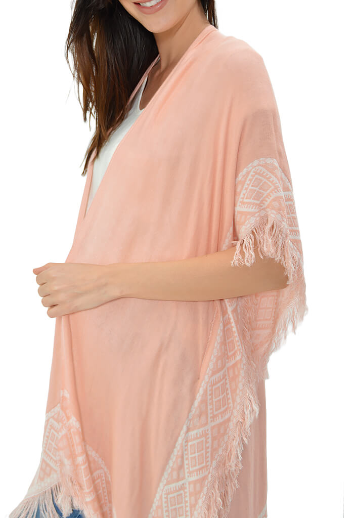 KK Bloom Boutique Beach Citrus Kimono - Peach