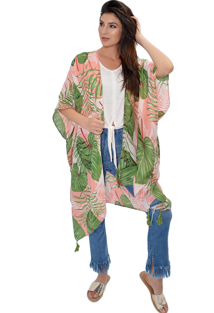 KK Bloom Boutique Barbie Palm Kimono