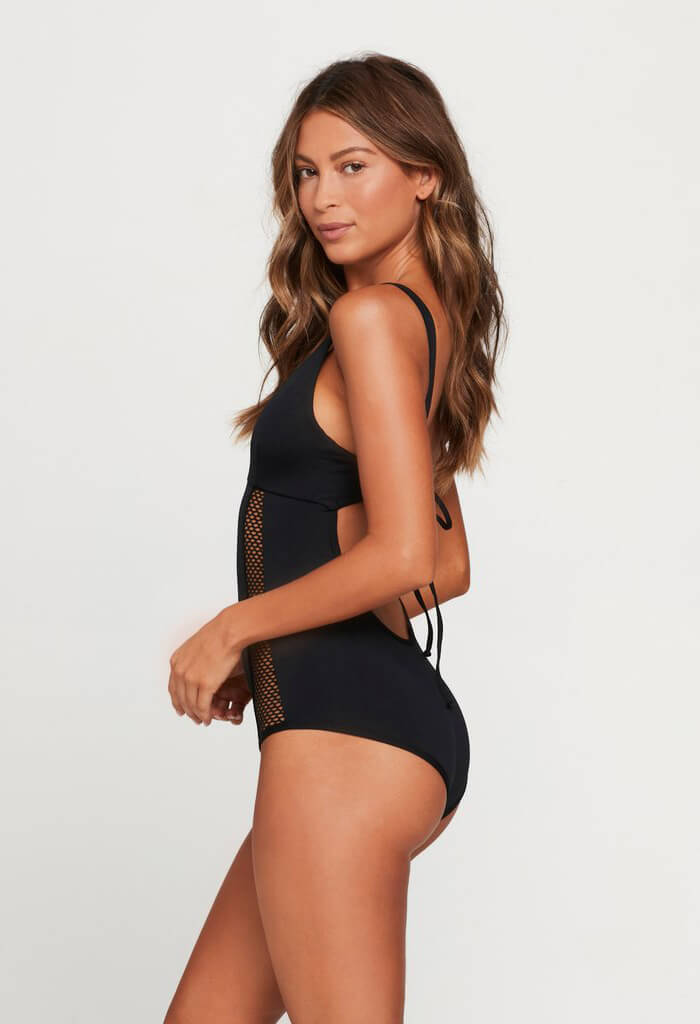 Show & Tell Mesh One Piece Swimsuit