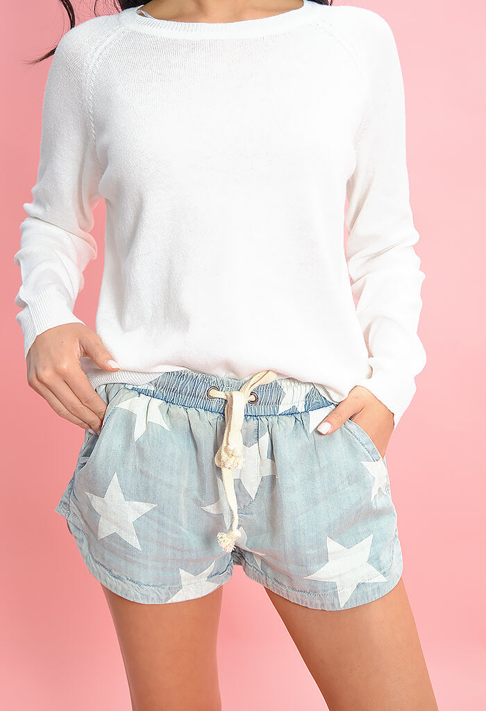 Vintage Denim Star Shorts