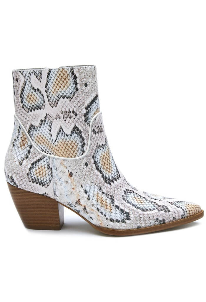 Matisse Amore White Pastel Snake Boots