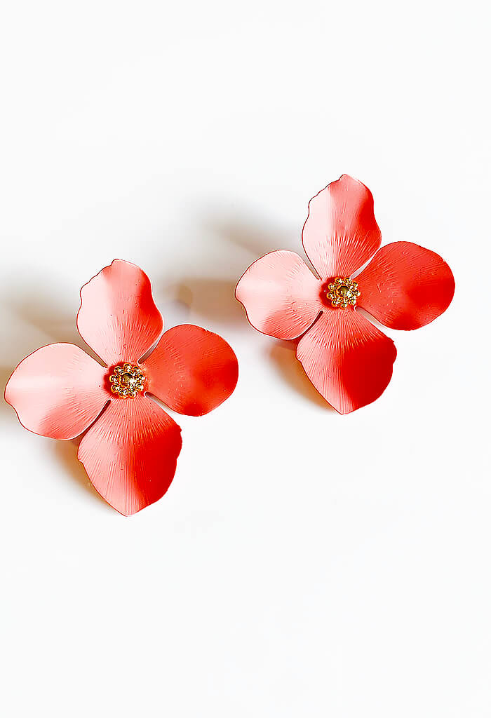 Blossom Studs-Coral