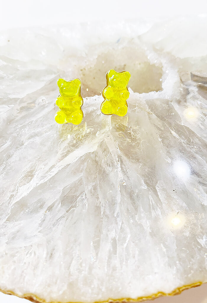 Gummy Bear Studs-Sunshine Yellow