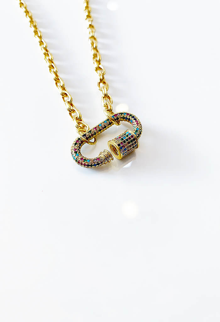 Rainbow Link Necklace