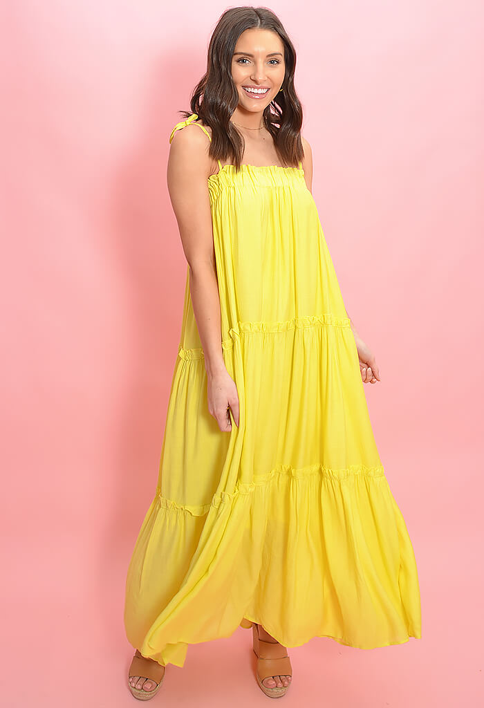 &Merci Lemon Drop Maxi Dress