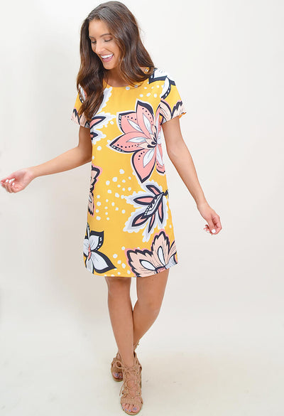 Floral Spiced Tee Dress