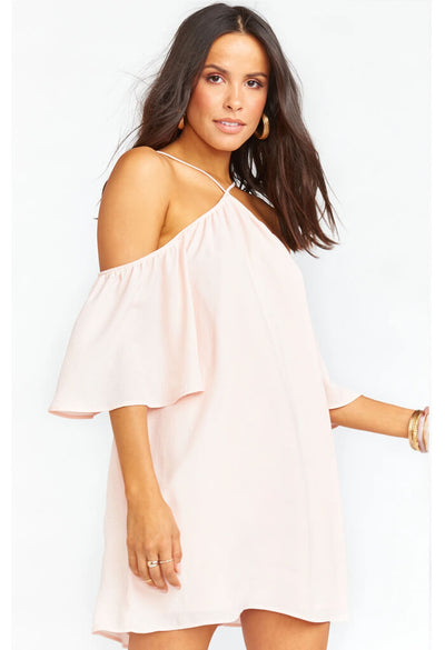 Lindsay Halter Dress-Speckle Dots Pink
