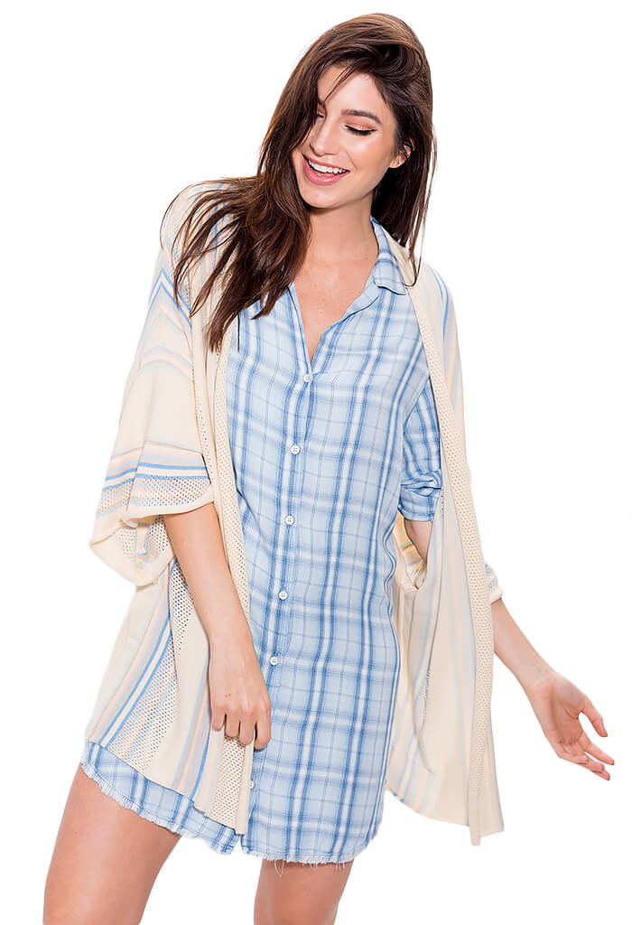 Bella Dahl Fray Hem Classic Shirt Dress