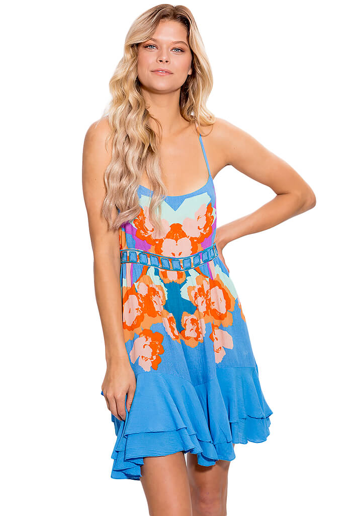 Sweet Lucy Slip Dress - Light Cornflower Blue
