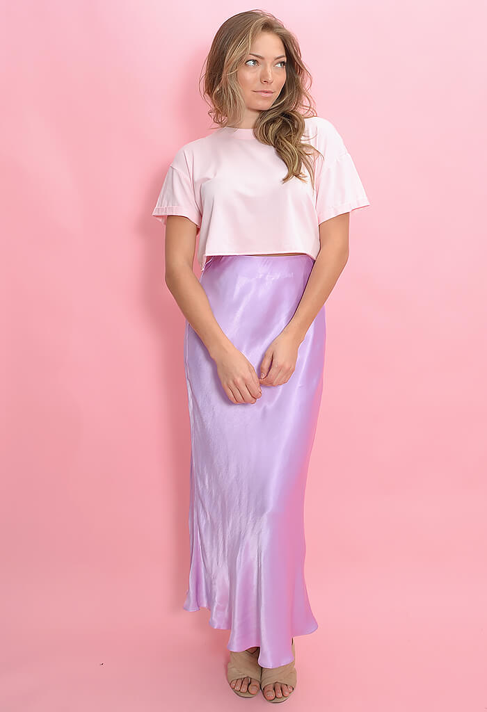 KK Bloom Little Gem Maxi Skirt-Lilac