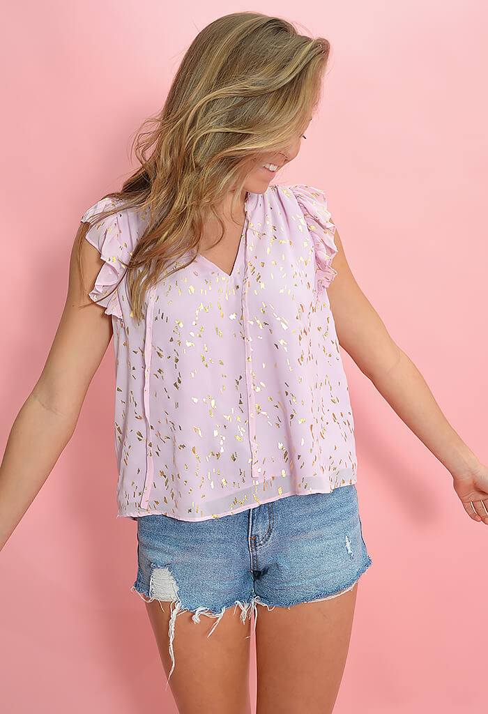 Buddy Love Victoria Blouse in Carnation