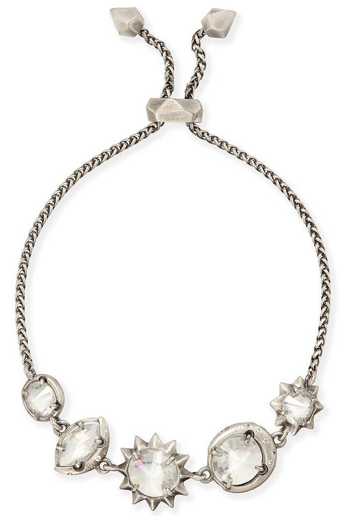 Kendra Scott Jodie Adjustable Chain Bracelet in Antique Silver