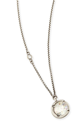 Quinn Pendant Necklace in Antique Silver
