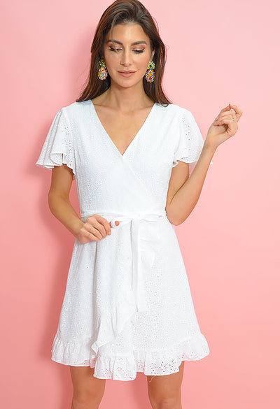 Easy On The Eyelet Dress