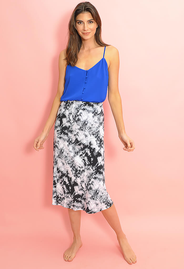 Everyday Midi Skirt - Dark Tie-Dye