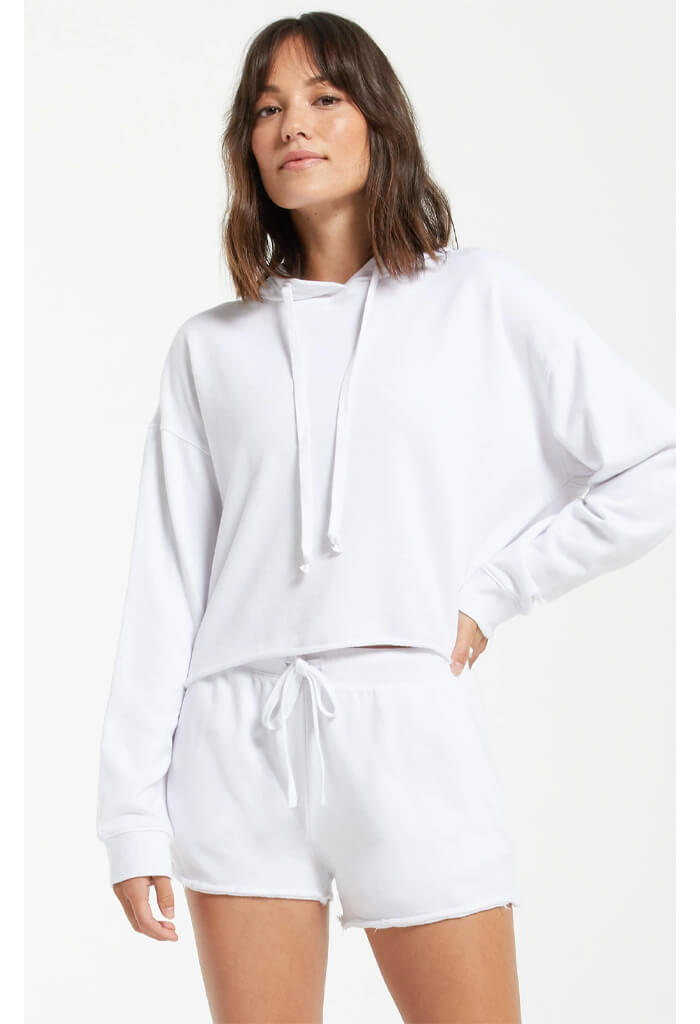 Z Supply Gia Washed Hoodie-White