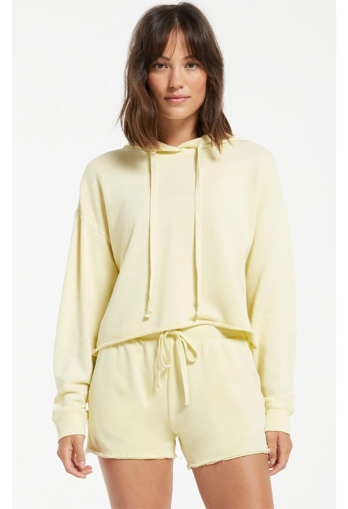 Z Supply Gia Washed Hoodie-Key Lime
