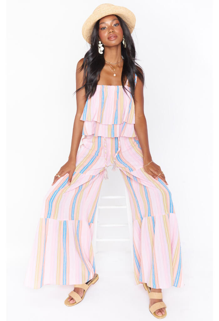 Show Me Your Mumu Serafina Pants-Paradise Stripe