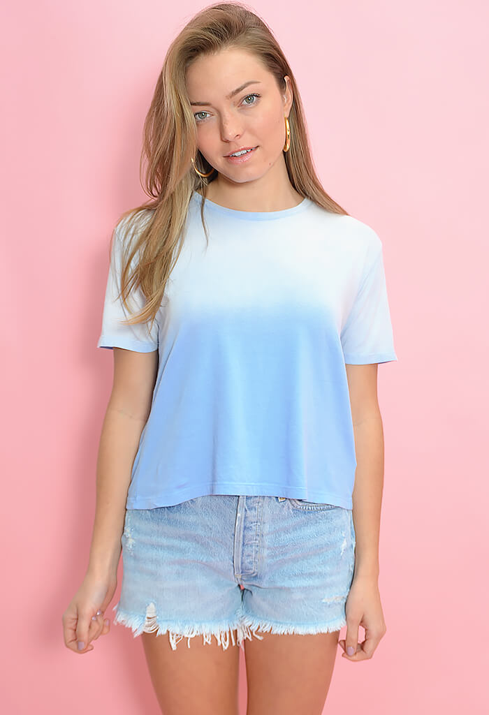 Z Supply Sol Ombre Tee-Cool Blue