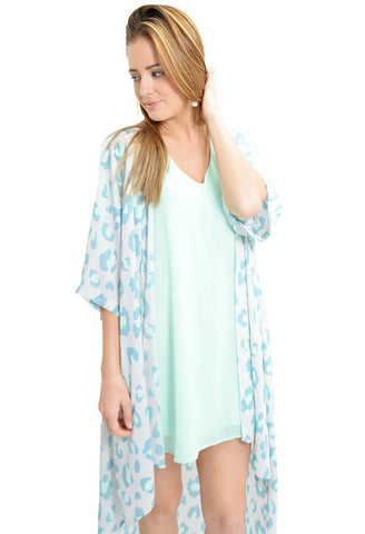 Flutter Sleeve Dress- Mint Chip