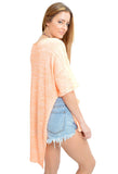 Free People Light Bright Orange Sweater-back